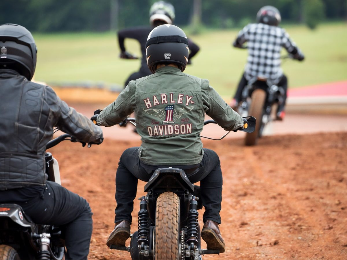 A group of motorcycle riders